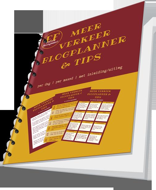 Meer verkeer blogplanner tips
