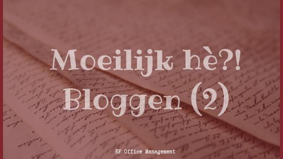 Nog 6 blogmoeilijkheden opgelost