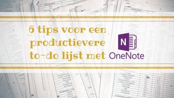 6 tips voor een productievere to-do lijst met OneNote