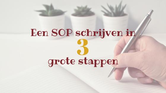 Een SOP schrijven in 3 grote stappen