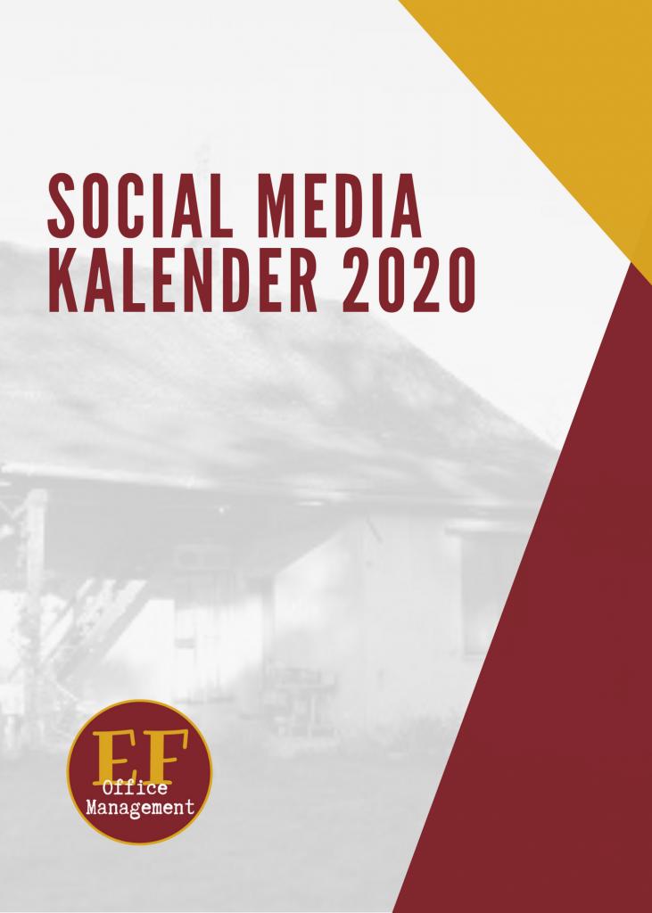 Social Media Kalender 2020