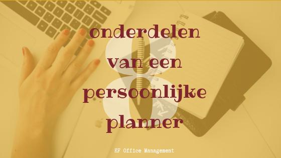 8 onderdelen van een persoonlijke planner
